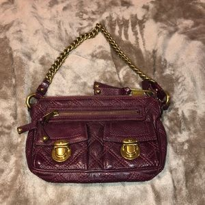 Marc Jacobs burgundy leather quilted bag